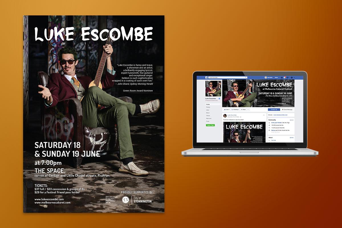 Luke Escombe - Melbourne Cabaret Festival - GermyDesigns
