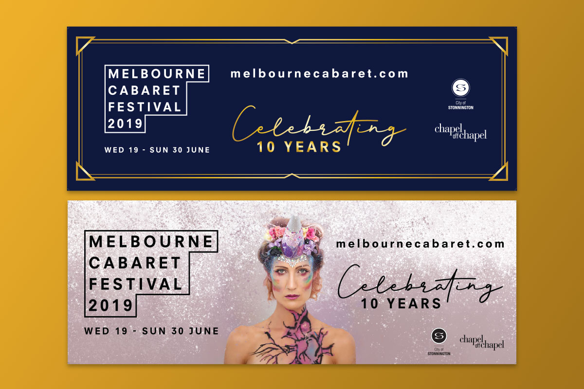 Melbourne Cabaret Festival 10th Anniversary - GermyDesigns